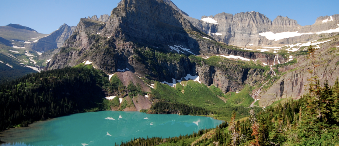 A nice hike to grinnell glacier and grinnell lake in Glacier National Park